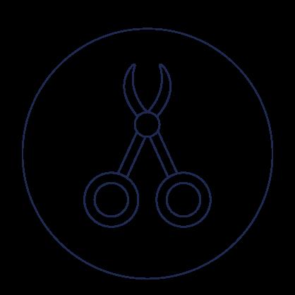 Icona della proctologia, rappresenta delle pinze